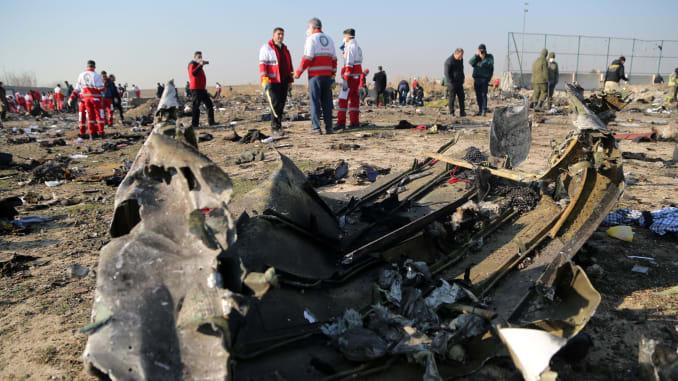 Les débris du Boeing abattu par l'Iran