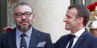 Le roi du Maroc et Emmanuel Macron