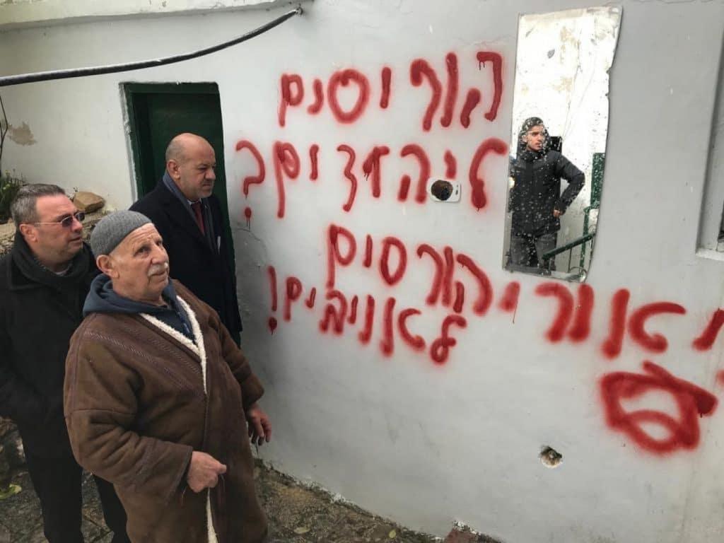 Une mosquée palestinienne à Jérusalem victime d'un incendie criminel2