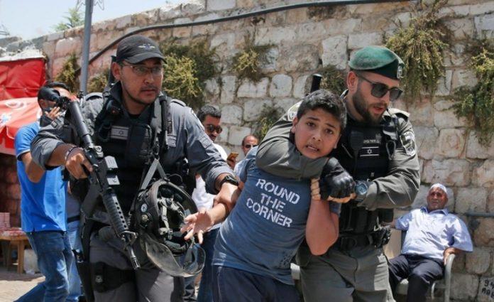 enfants palestiniens arrêtés jérusalem israel