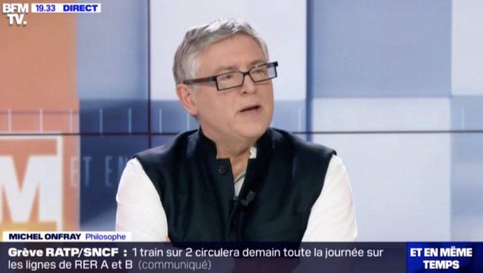 Michel Onfray sur le plateau de BFM TV