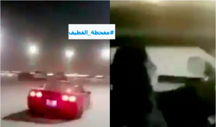 Arabie saoudite Une femme qui pratique des dérapages sauvages avec sa voiture se fait interpeller - VIDEO