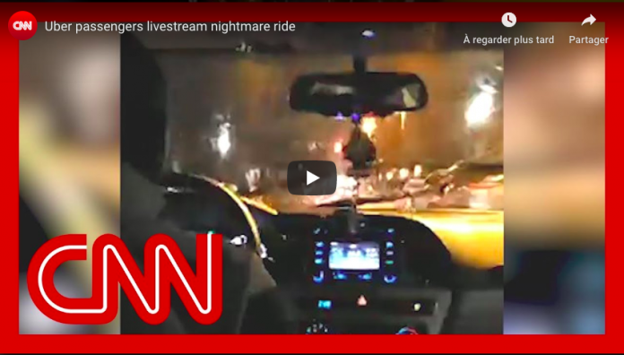 Deux passagers supplient leur chauffeur Uber de les laisser sortir du véhicule lors d'une course folle - VIDEO