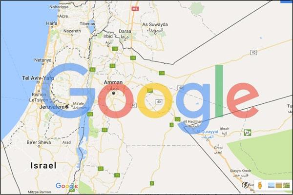 Google falsifie la superficie de la Palestine après l'annonce du plan de Donald Trump2