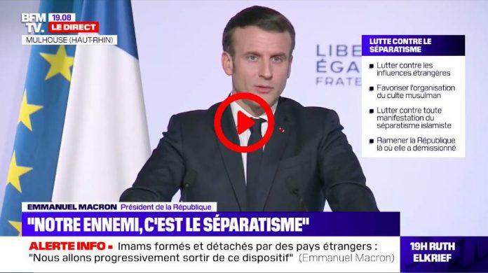 Mulhouse Emmanuel Macron se moque d'un citoyen qui «remercie Dieu» - VIDEO