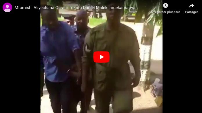 Tanzanie Un Coran brûlé et piétiné par un fonctionnaire scandalise les musulmans - VIDEO