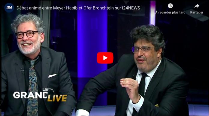 «Vous êtes un menteur !» lance un Israélien à Meyer Habib en direct d'un plateau - VIDEO