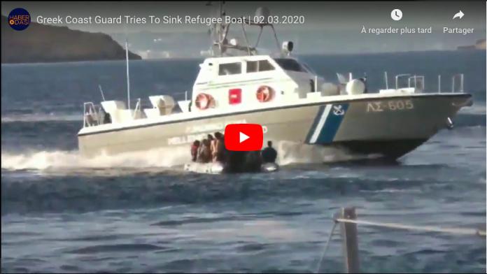 Choc Des garde-côtes grecs tirent sur une embarcation de migrants et tentent de les noyer - VIDEO