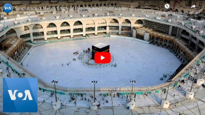Coronavirus Fermeture sans précédent de la Kaaba pour une stérilisation VIDEO