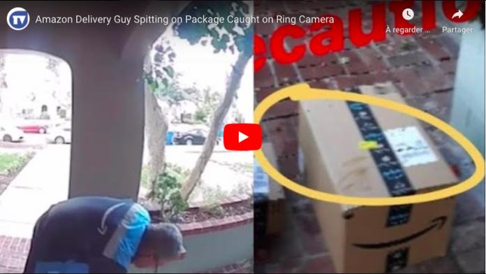 Coronavirus Un livreur Amazon a été filmé crachant volontairement sur un colis VIDEO