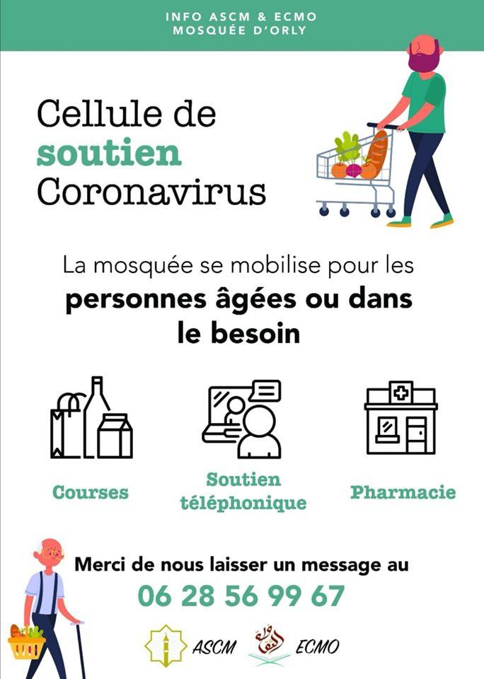 Coronavirus - la mosquée d'Orly offre son soutien aux personnes vulnérables