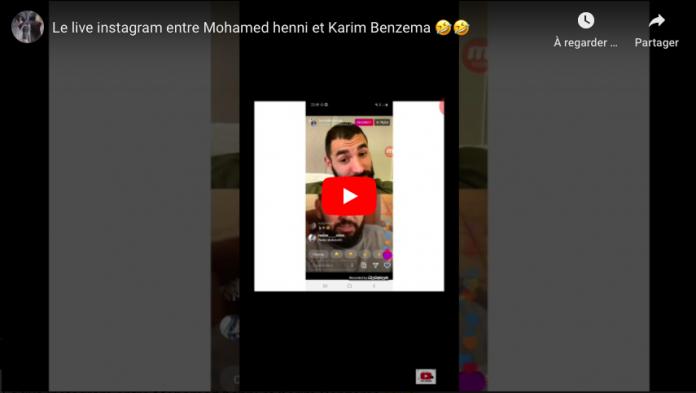 Échange rocambolesque entre Karim Benzema et Mohammed Henni en live sur Instagram - VIDEO
