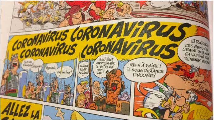 Un album d'Astérix évoquait déjà l'apparition d'un certain Coronavirus en 2017