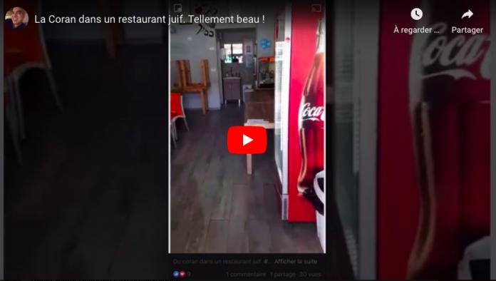 Un passant surprend un juif écoutant le Coran dans son restaurant - VIDEO