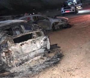 Coronavirus des colons israéliens placés en quarantaine incendient des voitures palestiniennes2