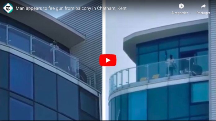 RoyaumeUniun homme armé d'une mitrailleuse tire sur les passants depuis son balcon VIDEO