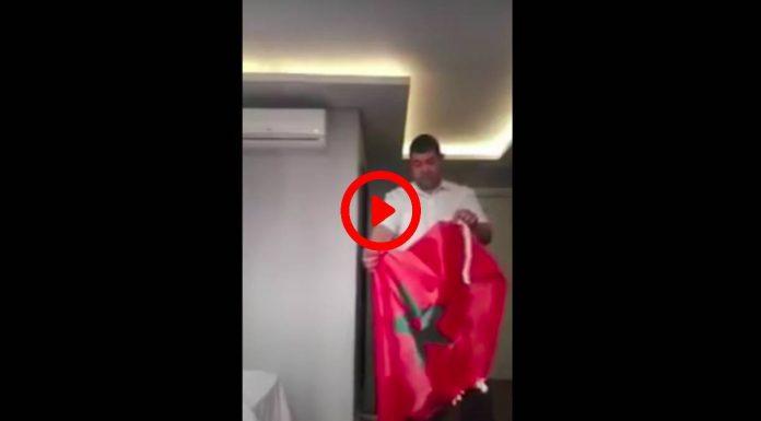 Un homme brûle le drapeau marocain et brandit le drapeau de Daesh sa nouvelle patrie VIDEO (1)