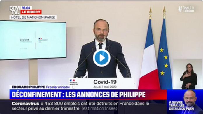 Édouard Philippe annonce officiellement l'entrée de la France en phase de déconfinement dès le 11 mai