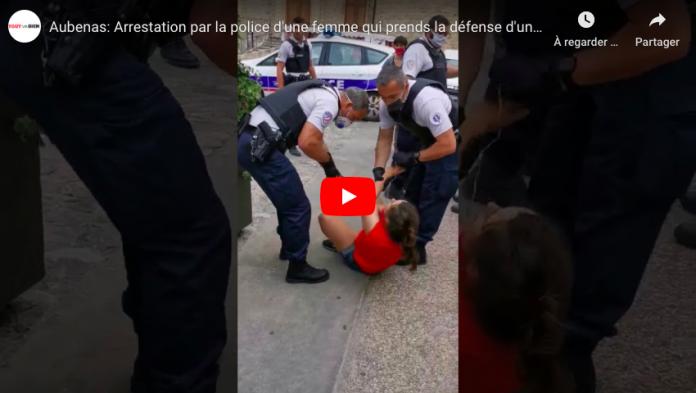 Aubenas une femme refuse de porter un masque, mord un policier et se fait malmenée - VIDEO
