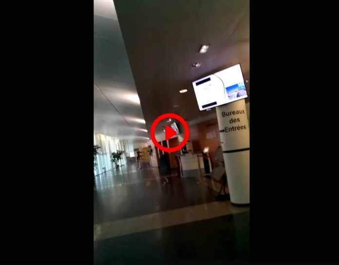 Coronavirus en pleine pandémie une employée filme les allées de l'hôpital de Nîmes entièrement vide - VIDEO