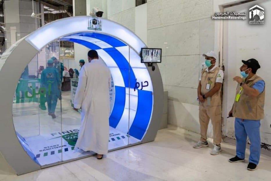 Coronavirus - l'Arabie saoudite installe des portes de stérilisation à La Mecque et à Médine3