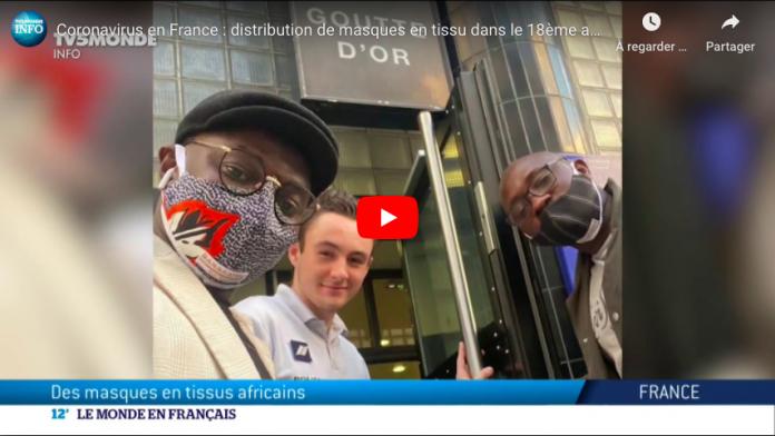 Coronavirus une boutique africaine distribue gratuitement des masques aux Parisiens - VIDEO