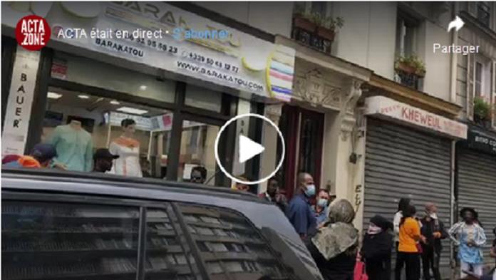 La boutique africaine qui distribuait des masques gratuitement fermée par la police