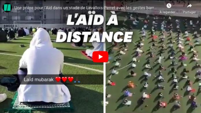 Levallois-Perret plus de 2500 fidèles ont participé à la prière de l'Aïd el-Fitr en plein air - VIDEO
