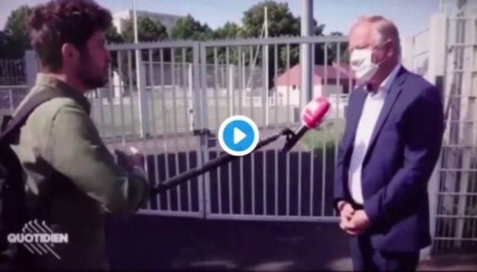 Strasbourg le Maire adjoint caillassé par des jeunes en pleine interview sur Canal+ - VIDEO