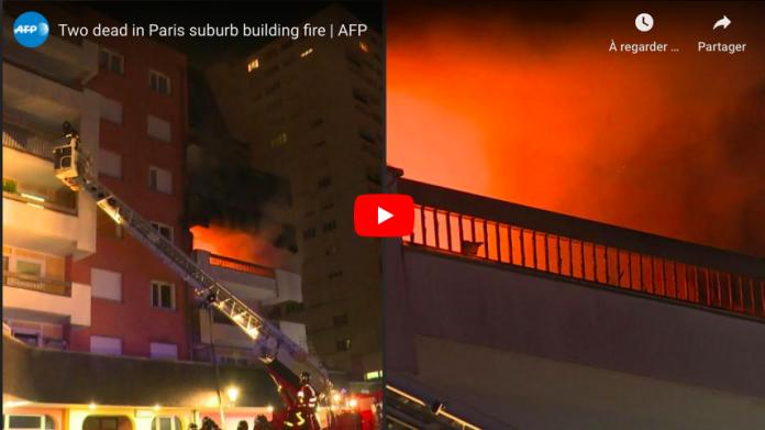Val-de-Marne un incendie dans un immeuble d'Alforville fait deux morts - VIDEO