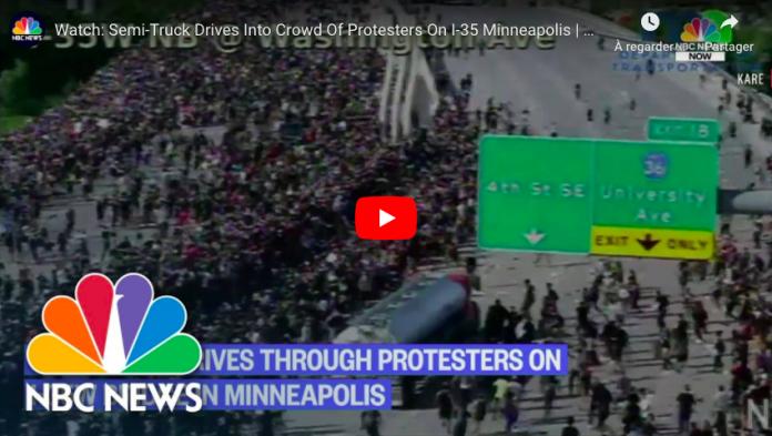 Affaire Georges Floyd un semi-remorque fonce sur la foule de manifestants à Minneapolis - VIDEO