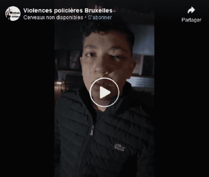 Bruxelles : Mounaïm 19 ans tabassé par cinq policiers cagoulés - VIDEO