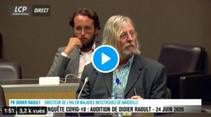 Coronavirus le Professeur Didier Raoult interrogé devant la commission d'enquête