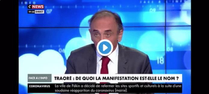 Eric Zemmour apporte son soutien à Génération Identitaire sur CNews