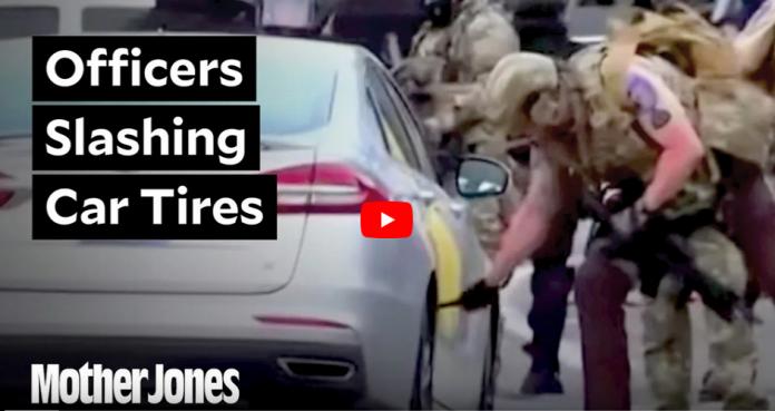 La police de Minneapolis crève les pneus des voitures de journalistes - VIDÉO