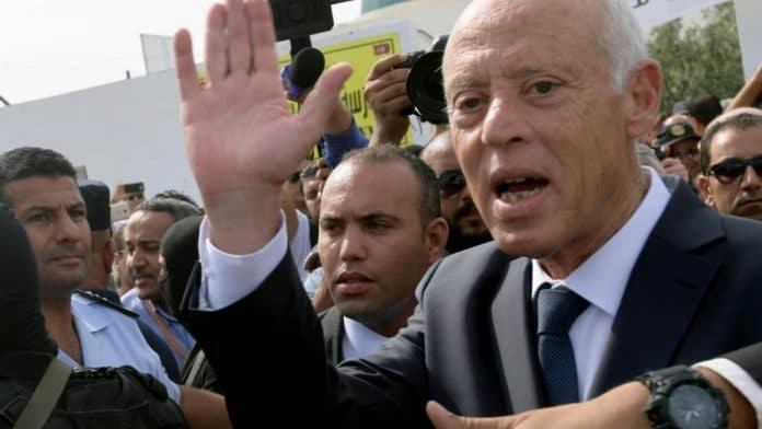 Le président tunisien Kaïs Saïed en visite à l'Elysée