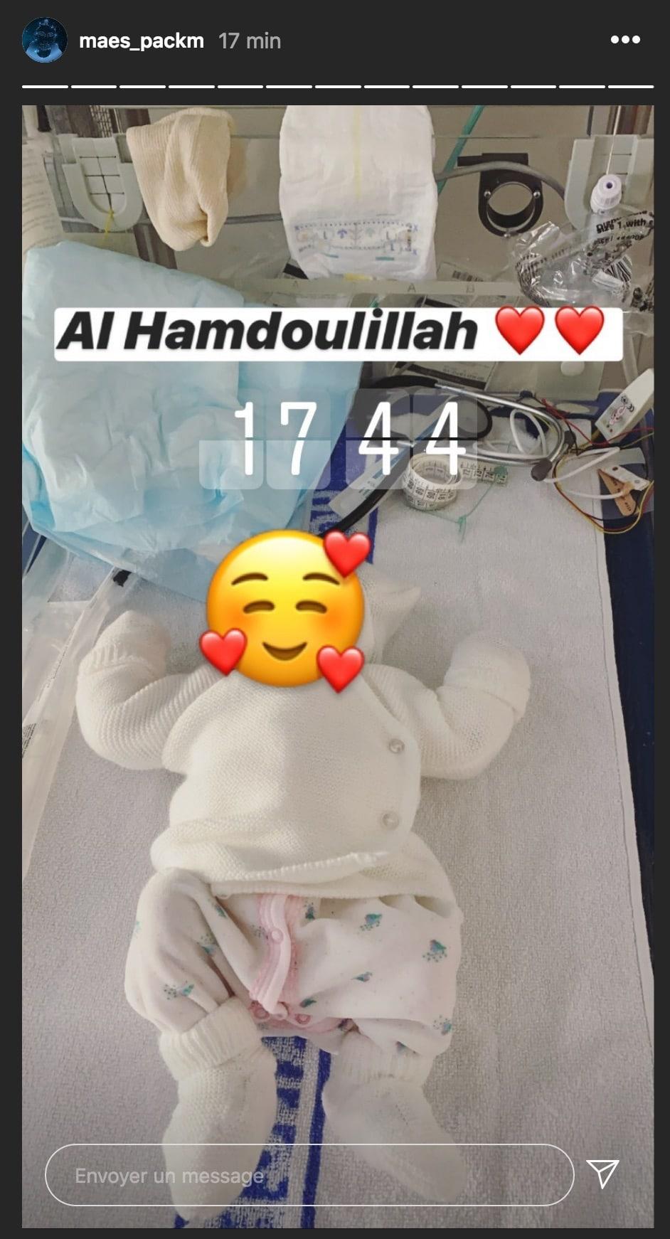 Le rappeur Maes annonce la naissance de sa petite fille et partage une jolie photo2