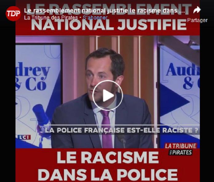 Le Rassemblement National justifie le racisme dans la police - VIDÉO