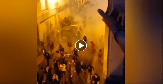 Nantes la police inonde la ville d'un impressionnant nuage de gaz lacrymogènes - VIDEO