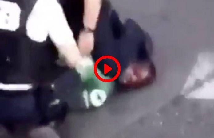 Paris la vidéo d'une arrestation similaire à celle de George Floyd fait polémique - VIDEO