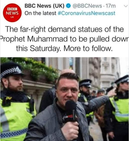 Royaume-Uni des sympathisants d'extrême-droite appellent à détruire les statues du Prophète Mohammed