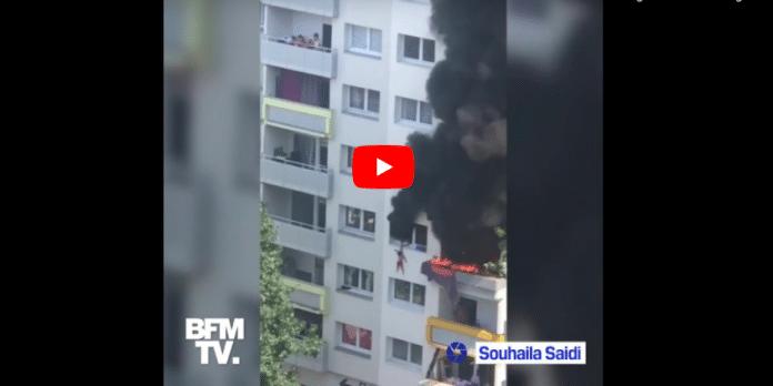Grenoble Témoignage de la voisine qui a filmé le sauvetage miraculeux des deux enfants de 3 et 10 ans