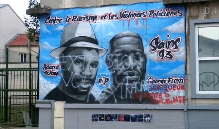 Stains : La fresque en hommage à George Floyd et Adama Traoré vandalisée cette nuit