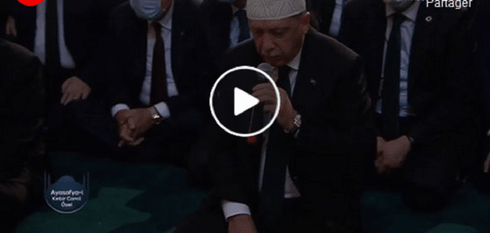 Turquie : À l'occasion de la réouverture de la mosquée Sofya, le président Erdogan récite le Coran en direct