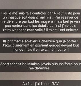 France : une jeune femme voilée dénudée par les policiers