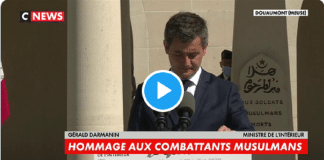 Hommage émouvant de Gérald Darmanin aux combattants musulmans