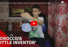 Maroc Mohammed Bilal Hamouti «petit inventeur» de 11 ans conçoit un masque de protection intelligent