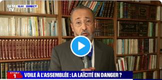 """Face à la polémique sur le voile, Tariq Oubrou rappelle que, selon lui, """"le voile n'est pas une obligation"""" - VIDÉO"""