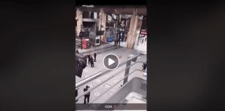 Gare du Nord un homme blanc attaque un demandeur d'asile afghan avec un couteau de cuisine - VIDEO