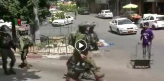 Hébron l'armée israélienne arrête un enfant palestinien - VIDEO